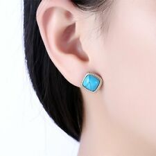 High End Women Square Shape Dangling Pendant Earring with Stones Women JewelryYH
