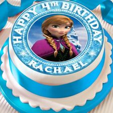 FROZEN PERSONALISED ANNA EDIBLE CAKE TOPPER DECORATION PRECUT  BIRTHDAY