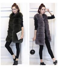 Fashion Ladies Faux Fur Vest Outwear Coat Jacket Winter Warm Waistcoat Overcoat