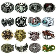 Western Cowboy Rodeo Bull Rider Metal Belt Buckle Arabesque Horseshoe Skull Mens