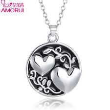 Heart Pendant Necklace Love Best Friend Gift Chain Trendy Sister Charm Jewelry