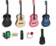 Acoustic Beginners Guitar With Case Strap Digital E-Tuner Set Wood New Year GIFT
