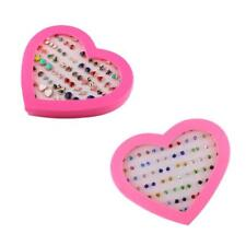 36 Pairs Bling Assorted Stud Earrings Bulk for Women Girl with A Heart Box