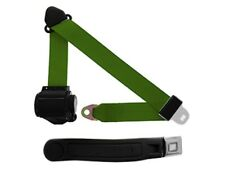 3 Point Retractable Seat Belt With Chrome Button w/ Contoured Sleeve Military Gr