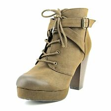 Material Girl Womens RHODES Closed Toe Ankle Platform Boots