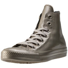 Converse Ct All Star Metallic Rubber Womens Trainers Gold New Shoes