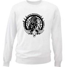 AMERICAN NATIVE INDIAN YOU CAN'T  - NEW WHITE COTTON SWEATSHIRT