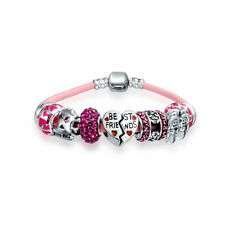 Bling Jewelry Sterling Silver Best Friend Heart Bead Charm Bracelet