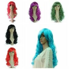 Womens Fancy Dress Cosplay Wigs Wavy Lace Front Synthetic Hair Pop Party Costume