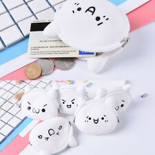 Cute Face Ladies Kids Silicone Coloured Coin wallet Jelly Purses Jewelry Key-Bag