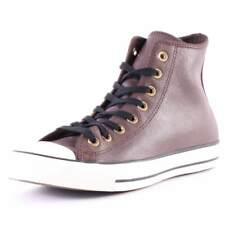 Converse Chuck Taylor All Star Hi Top Mens Brown Leather Casual Trainers Lace-up