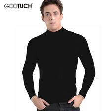 Cotton Mens Thermal Underwear Winter Turtle Neck Tops High Collar Long Johns 4XL