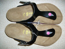 REDUCED - BIRKENSTOCK - GIZEH - BLACK VARNISH WITH PINK SOLES RRP $127