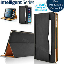 Leather Wallet Folio Ultra Case Cover+3pcs Screen Films For Apple iPad Air 1/2