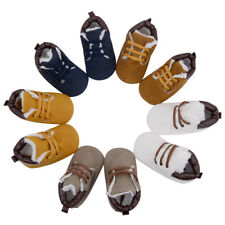 1 Pair Newborn Toddler Boy Baby Crib Boots Winter Soft Sole Leather Crib Shoes