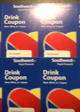 4 Southwest Airlines Drink Coupons Gift Certificates 12/31/18 Expiration