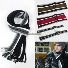 Men's Winter Classical Artificial Wool Scarf Tassels Scarf Long CLSV