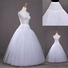 3 Layer No Hoop Wedding Petticoat Crinoline Long Skirt Gown Underskirt Slip0596