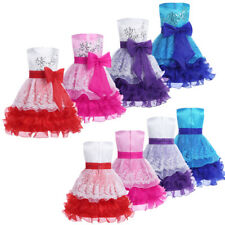 New Girls Wedding Bridesmaid Formal Pageant Party Princess Dress for Flower Girl
