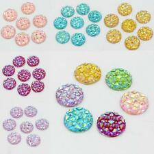 50x Multi-color Round Resin Cabochon Flatback Embellishment DIY Accessories 12mm