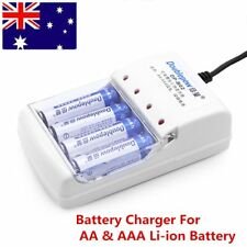 High Quality 4 Slot Battery Charger For AA&AAA Li-ion Rechargeable Battery AU