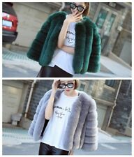 Fashion Ladies Womens Faux Fur Coat Outwear Winter Warm Slim Jackets Parka Coat