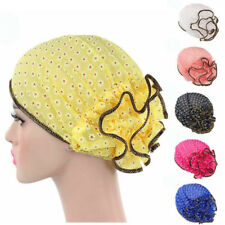 Fashion Women lace Beanie Hat flower Bonnet Chemo Cap Scarf Hijab Islamic Turban