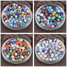 50pcs 6mm 8mm Mixed Round Millefiori Glass Loose Spacer Craft Beads Lot