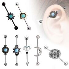 1PC Surgical Steel Industrial Scaffolding Barbell 14G Ear Barbell Ring Mix-Style