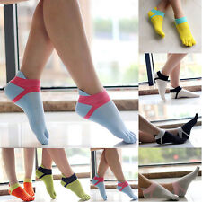 Women Sport New Style Comfortable Ankle Protect Foot Five Fingers Toe Socks KW