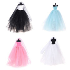 Fashion Royalty Princess Dress/Clothes/Gown+veil For Barbie Doll Accessories LY