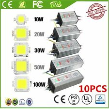 10/20/30/50/100W  LED SMD Chip Bulbs High Power Waterproof LED Driver Supply UTA
