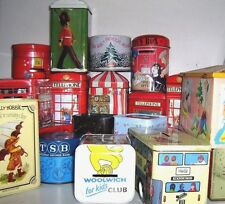COLLECT - UK - MONEY BOX TINS 1960/90 ~ click - Select - to browse or order