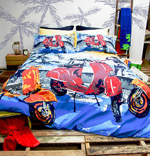 Vespa Scooter Beach Duvet Doona Quilt Cove Set | Single | Double | Queen | King