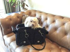 Fashion PU Leather Soft Pet Carrier Small Dog Pet Tote Outdoor Cat Carrier Bag