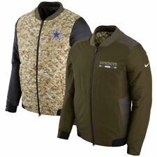 DALLAS COWBOYS Nike NFL Salute to Service Mens Reversible Bomber Jacket