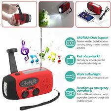 Rechargeable Camping Solar Powered LED Flashlight Torch Hand Crank Dynamo Lot LU