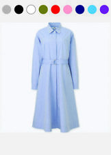 Uniqlo WOMEN COTTON LONG SLEEVE SHIRT DRESS Japan 406430 / 404504