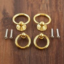Zinc Alloy Retro Cabinet Knobs Hardware Drawer Jewelry Box Drop Ring Pull Handle