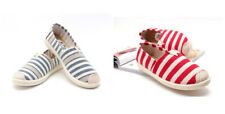 New Women Classics Tom Loafers Canvas Slip On Flats shoes Stripe Casual Shoes