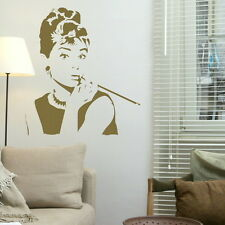AUDREY HEPBURN Vinyl wall sticker giant tattoo picture print decal nic22