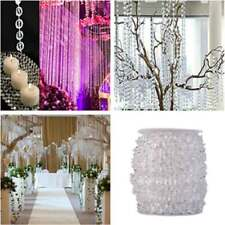 1Roll 99 FT Garland Diamond Strand Acrylic Crystal Bead Wedding Party Decoration