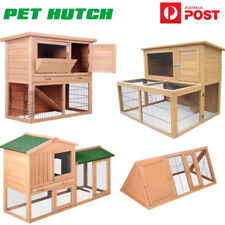 New Rabbit Hutch Guinea Pig Chicken Coop Ferret Cage Pet Cat Hen Chook House AU