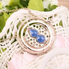 Cool Fashion Magic Time Turner Necklace Rotating Spins Hourglass Necklace EN