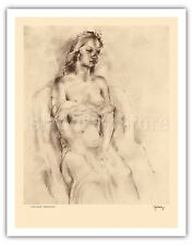 Etchings and Drawings of Hawaiians - Chinese Kelly - 1940s  Fine Art Print