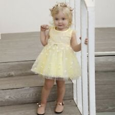 Charming Toddler Baby Girls Solid Floral Bowknot Net Yarn Princess Dress Clothes