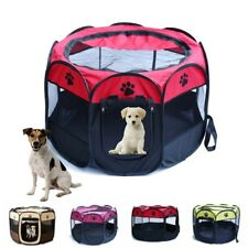 Pet Dog Cat Playpen Tent Portable Exercise Fence Kennel Cage Bags Outdoor Bag