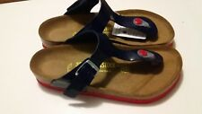 BIRKENSTOCK - GIZEH - NAVY w RED SOLES RRP $127 SAVE $32