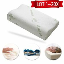 LOT 1~20X Comfort Contour Bamboo Fiber Memory Foam Pillow & Removable Case ~#