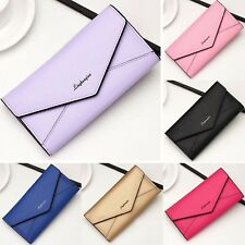 Women Leather Long Purse Ladies Clutch Coin Phone Bag Wallet Card Holder PU